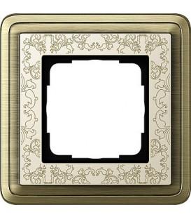 Рамка 1 место Gira 211663 ClassiX Art Бронза кремовый