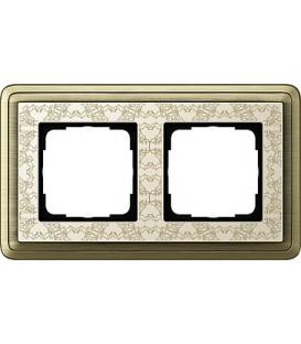 Рамка 2 места Gira 212663 ClassiX Art Бронза кремовый