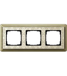 Рамка 3 места Gira 213663 ClassiX Art Бронза кремовый
