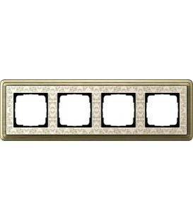 Рамка 4 места Gira 214663 ClassiX Art Бронза кремовый