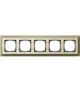 Рамка 5 мест Gira 215663 ClassiX Art Бронза кремовый