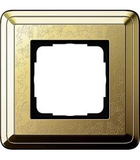 Рамка 1 место Gira 211671 ClassiX Art Латунь
