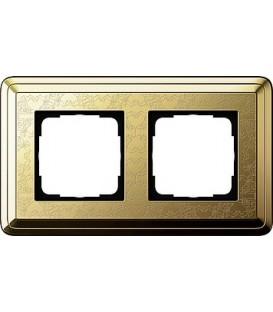 Рамка 2 места Gira 212671 ClassiX Art Латунь