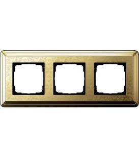 Рамка 3 места Gira 213671 ClassiX Art Латунь