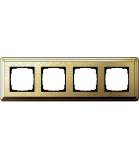 Рамка 4 места Gira 214671 ClassiX Art Латунь