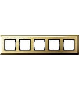 Рамка 5 мест Gira 215671 ClassiX Art Латунь