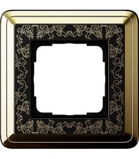 Рамка 1 место Gira 211672 ClassiX Art Латунь Чёрный
