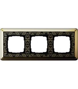 Рамка 3 места Gira 213672 ClassiX Art Латунь Чёрный