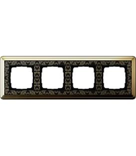 Рамка 4 места Gira 214672 ClassiX Art Латунь Чёрный
