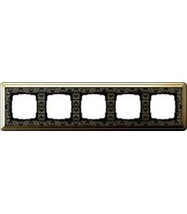 Рамка 5 мест Gira 215672 ClassiX Art Латунь Чёрный