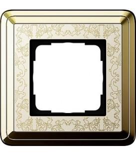 Рамка 1 место Gira 211673 ClassiX Art Латунь кремовый
