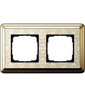 Рамка 2 места Gira 212673 ClassiX Art Латунь кремовый