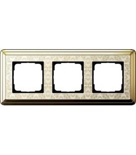 Рамка 3 места Gira 213673 ClassiX Art Латунь кремовый