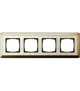 Рамка 4 места Gira 214673 ClassiX Art Латунь кремовый