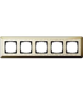 Рамка 5 мест Gira 215673 ClassiX Art Латунь кремовый
