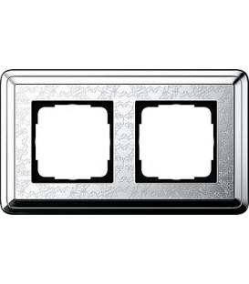 Рамка 2 места Gira 212681 ClassiX Art Хром