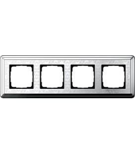 Рамка 4 места Gira 214681 ClassiX Art Хром