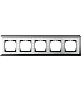 Рамка 5 мест Gira 215681 ClassiX Art Хром