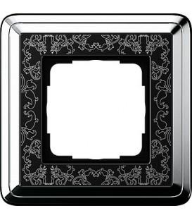 Рамка 1 место Gira 211682 ClassiX Art Хром Чёрный