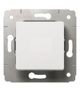 Выключатель 1-клавишный, 16А, 250В, белый, Cariva