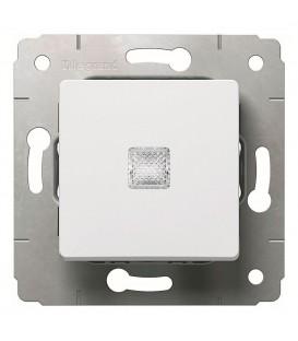 Выключатель 1-клавишный, с индикацией, 10АХ, 250В, белый, Cariva