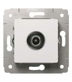 Розетка TV, проходная, 4-2150МГц, 14дБ, белая, Cariva