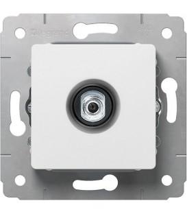 Розетка TV, тип F, 0-2400МГц, 1.5дБ, белая, Cariva