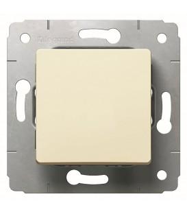 Выключатель 1-клавишный, 16А, 250В, слоновая кость, Cariva