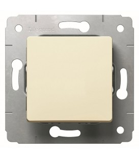 Выключатель 1-клавишный, без фиксации, 10А, 250В, слоновая кость, Cariva