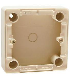 Коробка для накладного монтажа, глубина 26мм, для выключателей и переключателей, слоновая кость, Cariva