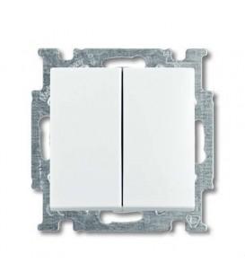 Переключатель двухклавишный ABB Basic 55, белый
