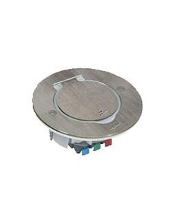 Лючок Legrand IP44 круглый 2 модуля нержавеющая сталь