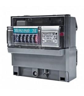 Счетчик электроэнергии однофазный однотарифный Меркурий 201.6 80/10 Т1 D 220В ОУ (201.6)