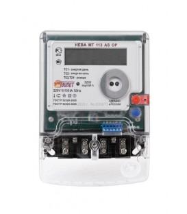 Счетчик электроэнергии однофазный многотарифный (двухтарифный) Нева113 100/5 Т4 Щ 220В ЖК