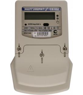 Счетчик электроэнергии однофазный многотарифный CE 102 MS7 145JV 60/5 Т4 Щ 230В оптопорт ЖК (CE102M S7 145-JV)