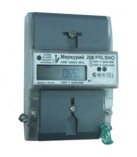 Счетчик электроэнергии однофазный многотарифный 206 RN 60/5 Т4 D ЖК 230В RS485 оптопорт (206 RN)