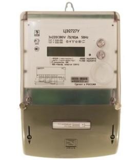 Счетчик электроэнергии трехфазный многотарифный ЦЭ2727 100/10 Т4 Щ плоский 220/380В ЖК (ЦЭ2727 100/10 пл)