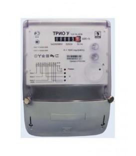 Счетчик электроэнергии трехфазный однотарифный ТРИО-У 50/5 Т1 D ОУ 220/380В плоский корпус (ТРИО У 5-50А Т1 D ОУ)