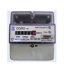 Счетчик электроэнергии однофазный однотарифный СОЛО 60/5 Т1 D квадрат 220В ОУ (СОЛО DIN ОУ 5-60)