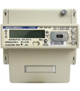 Счетчик электроэнергии трехфазный многотарифный СЕ 301 R33 Тр/5 Т4 D+Щ кл0.5s RS485 230/400В ЖК (CE301 R33 043 JAZ)