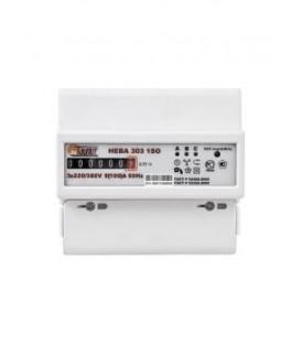 Счетчик электроэнергии трехфазный однотарифный Нева303 100/5 Т1 D 220/380В ОУ