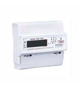 Счетчик электроэнергии трехфазный однотарифный Нева306 60/5 Т1 D 220В/380В ЖК