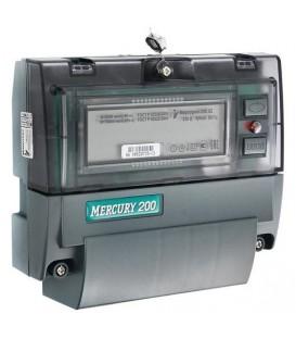Счетчик электроэнергии однофазный многотарифный Меркурий 200.04 60/5 Т4 D+Щ PLC 220В ЖК (200.04)