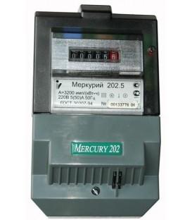 Счетчик электроэнергии однофазный однотарифный Меркурий 202.5 60/5 Т1 Щ 220В ОУ (202.5)