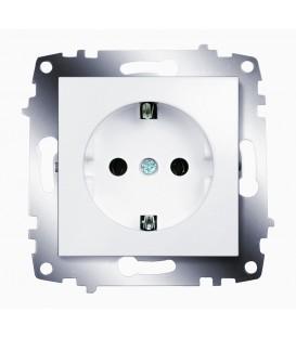 Розетка электрическая с заземлением ABB Cosmo (Белый)