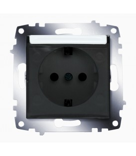 Розетка электрическая с крышкой с заземлением ABB Cosmo (Белый)