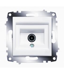 Розетка TV простая ABB Cosmo (Белый)