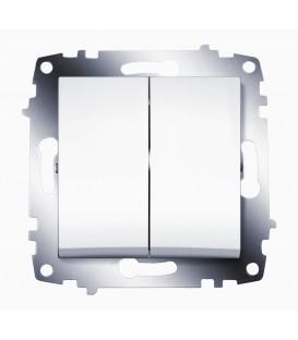 Выключатель двухклавишный ABB Cosmo (Белый)