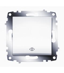 Переключатель одноклавишный перекрестный ABB Cosmo (Белый)