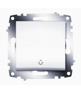 Кнопка одноклавишная ABB Cosmo (Белый)